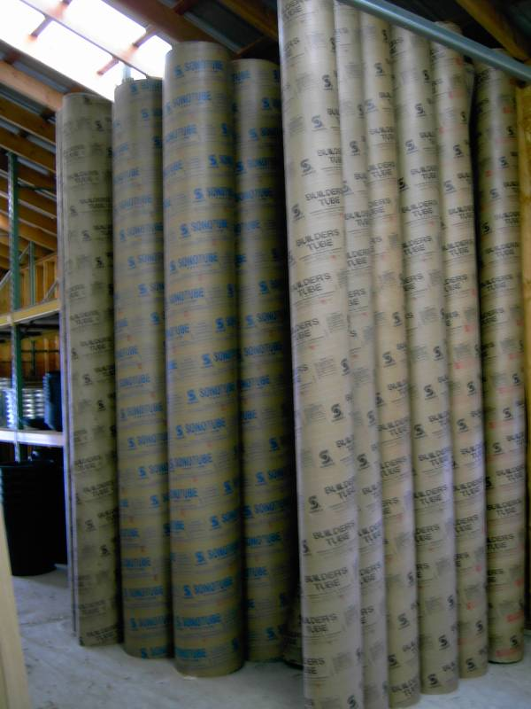 "12' Sonotubes 6"" 8"" 10"" 12"" 16"" 18"" 24"" in Stock"